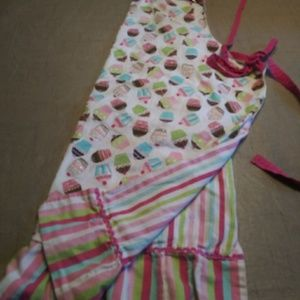 Cute Cupcake Apron reversable